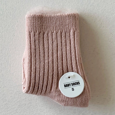 Bow Collective Rib Socks - Cotton Candy