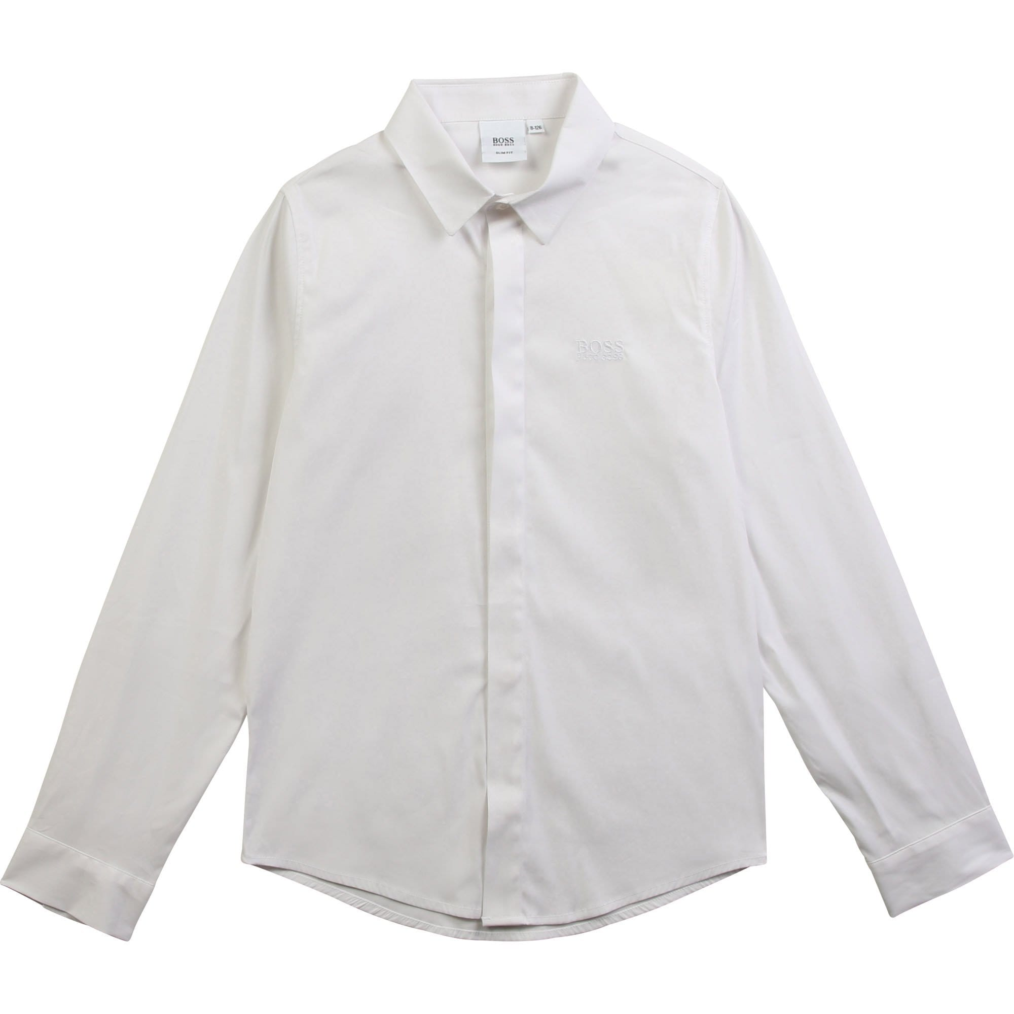 Hugo Boss Long Sleeved Shirt - White J25E94/10B