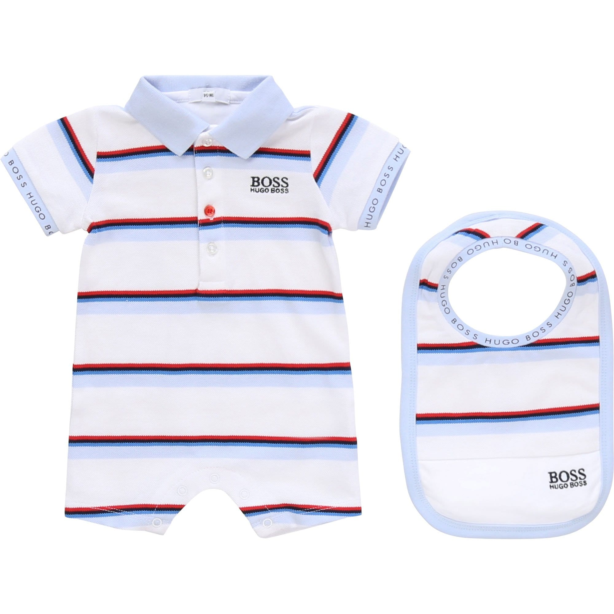 Hugo Boss Romper and Bib Set J98281/Z40
