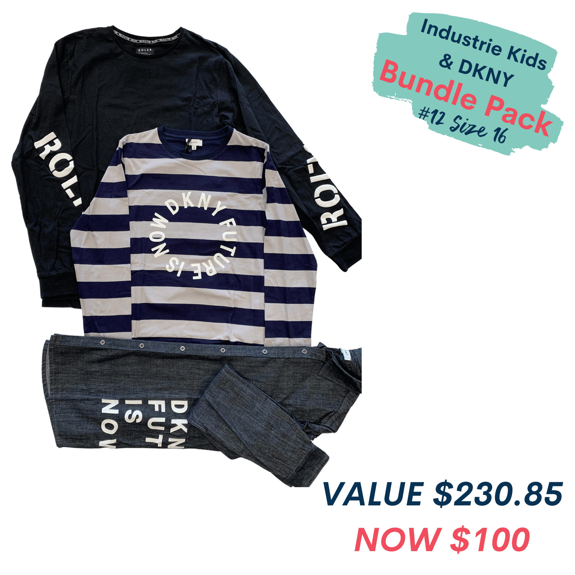 Bundle Pack # 12 Size 16 - DKNY & Industrie Kids