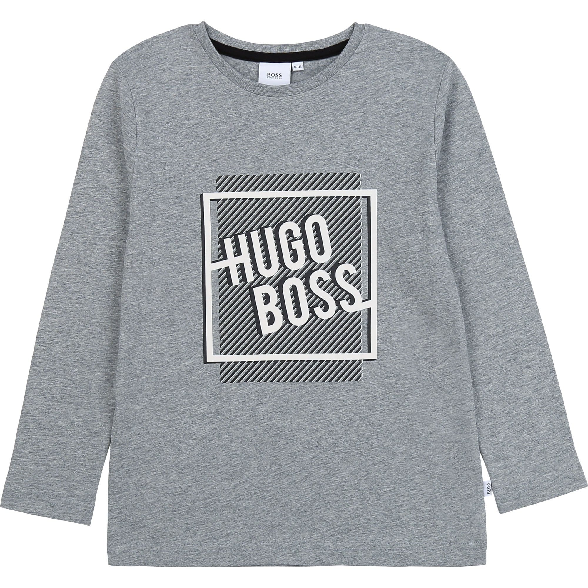 Hugo Boss Long Sleeve Logo T-Shirt J25G31/A33