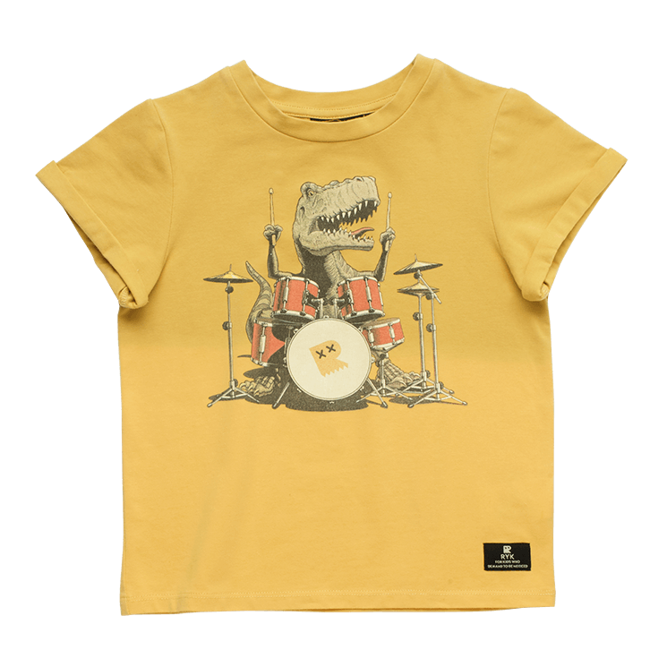 Rock Your Kid Boys Drum Solo SS T -Shirt