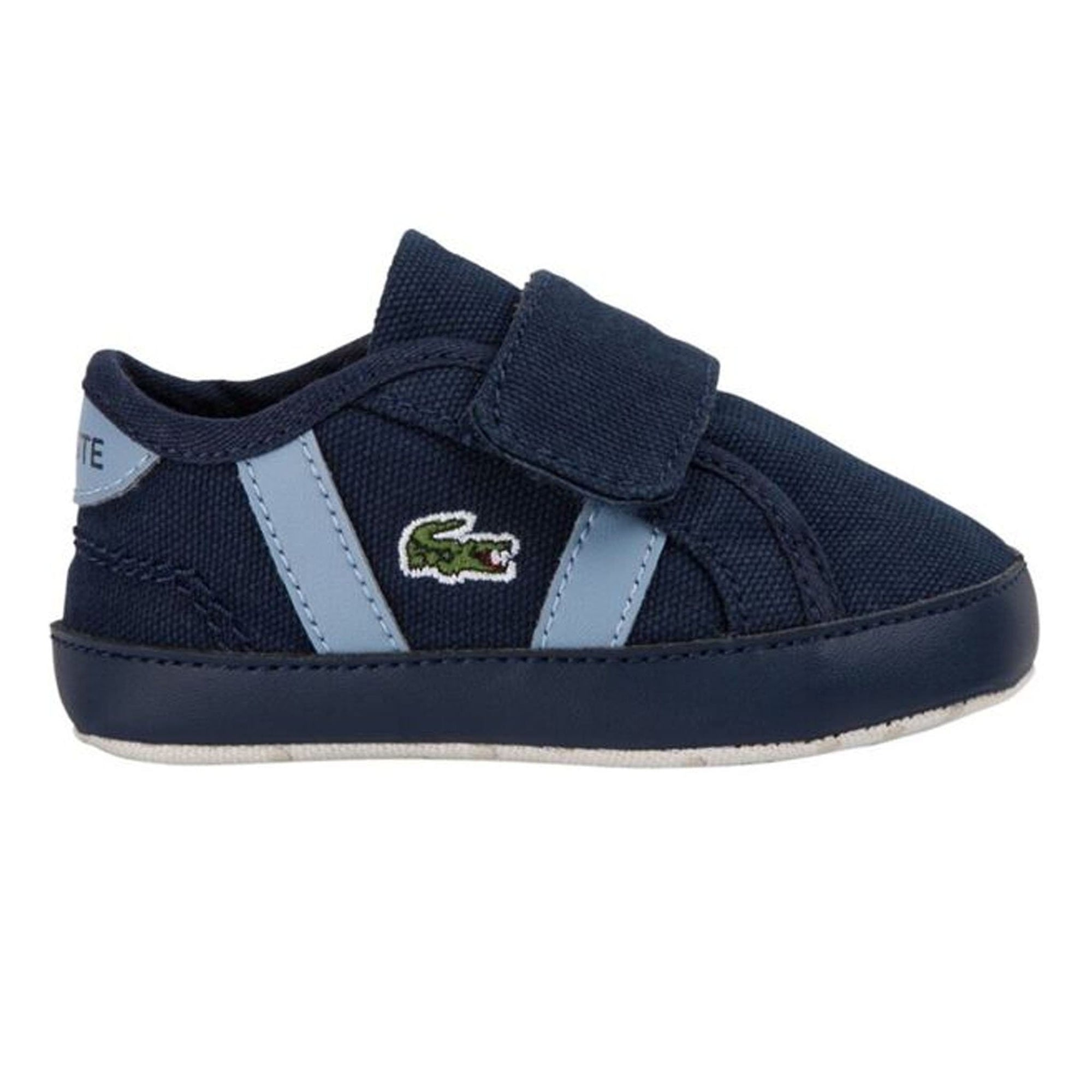 Lacsote Infants' Navy Sideline Crib Canvas Trainers