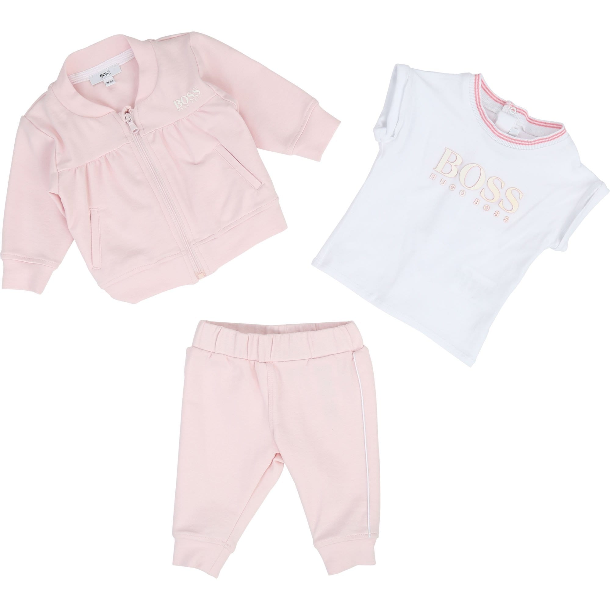 Hugo Boss Baby Tracksuit Set Pink