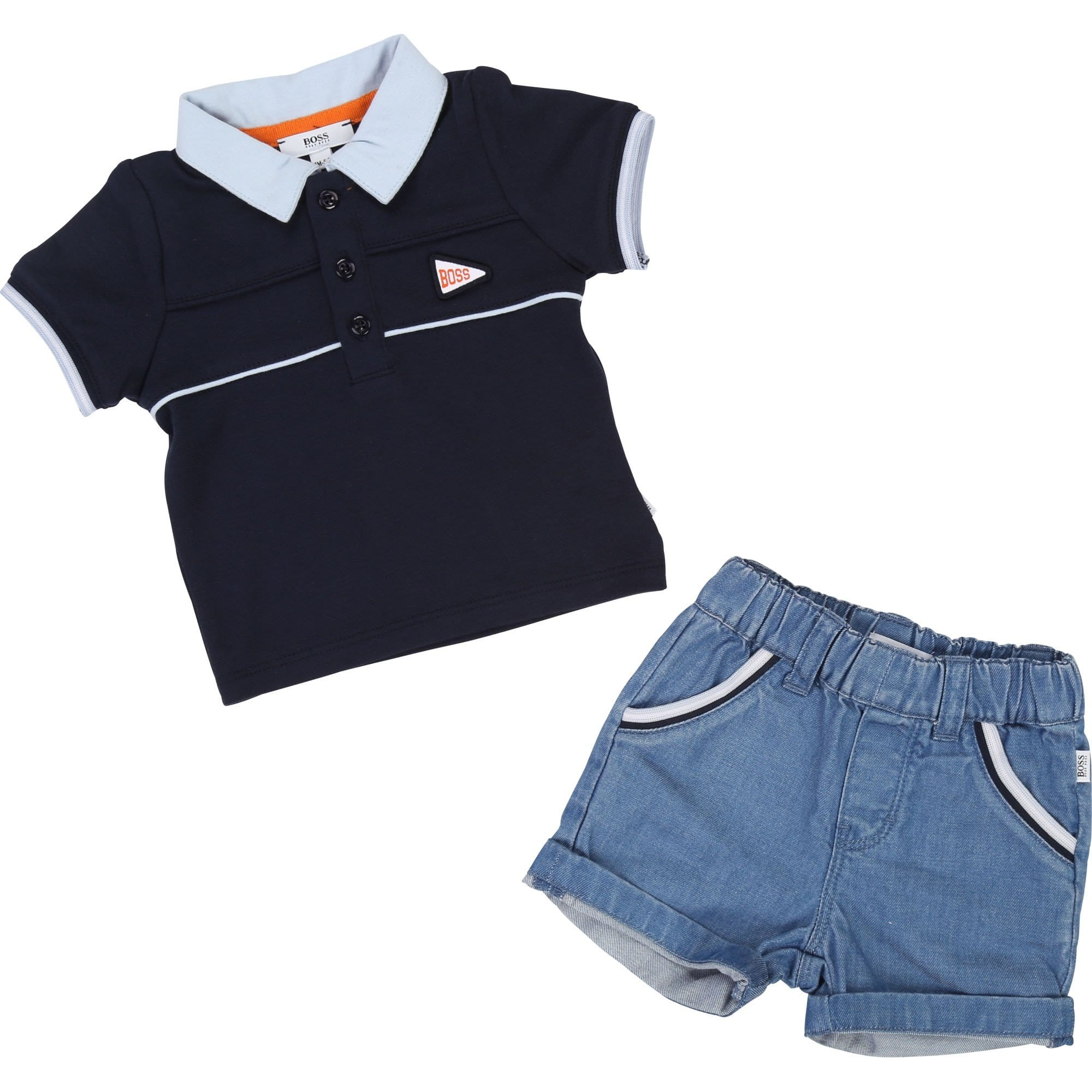 Hugo Boss Polo T-Shirt and Denim Short Set