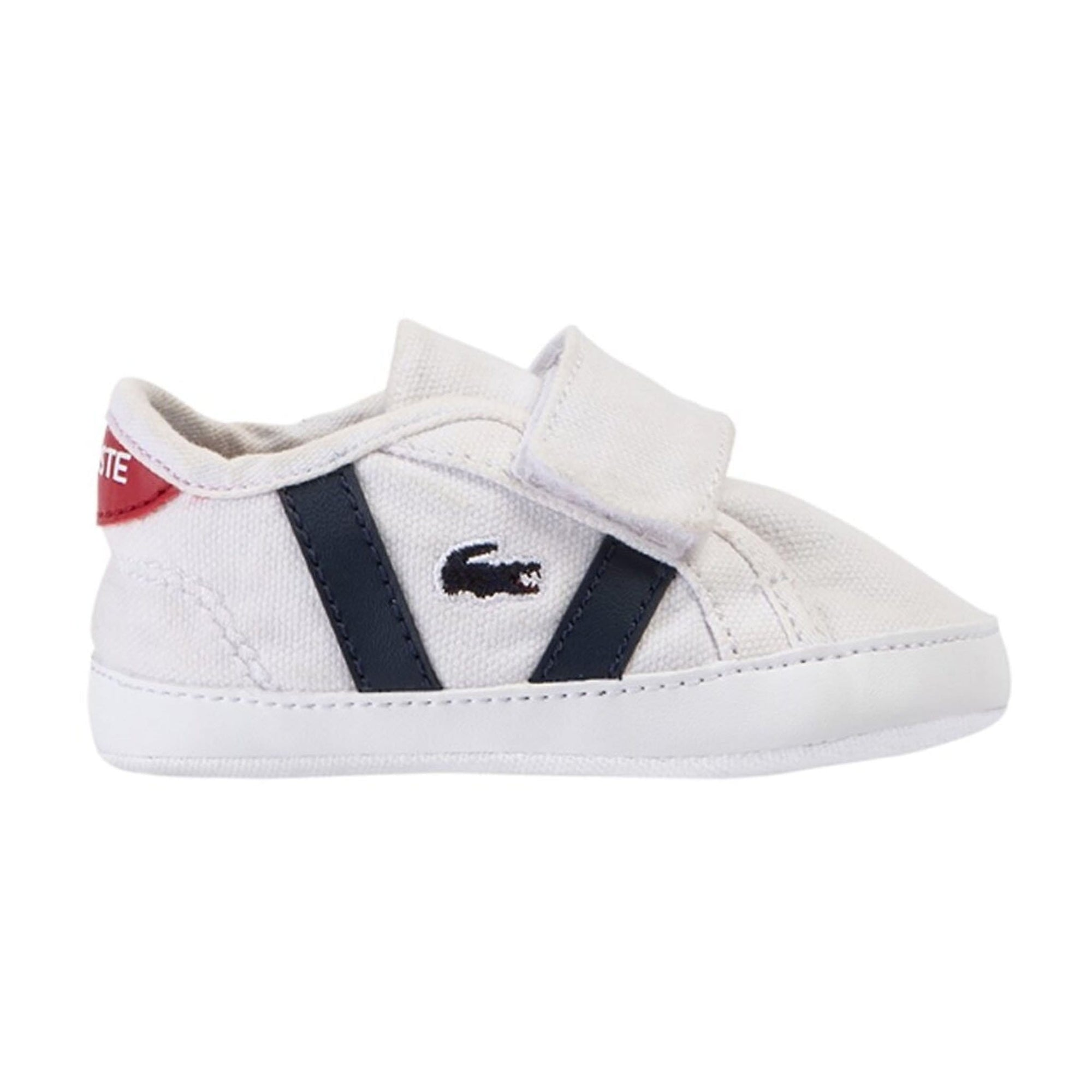 Lacoste Baby Sideline Crib Sneakers White (4685606715523)