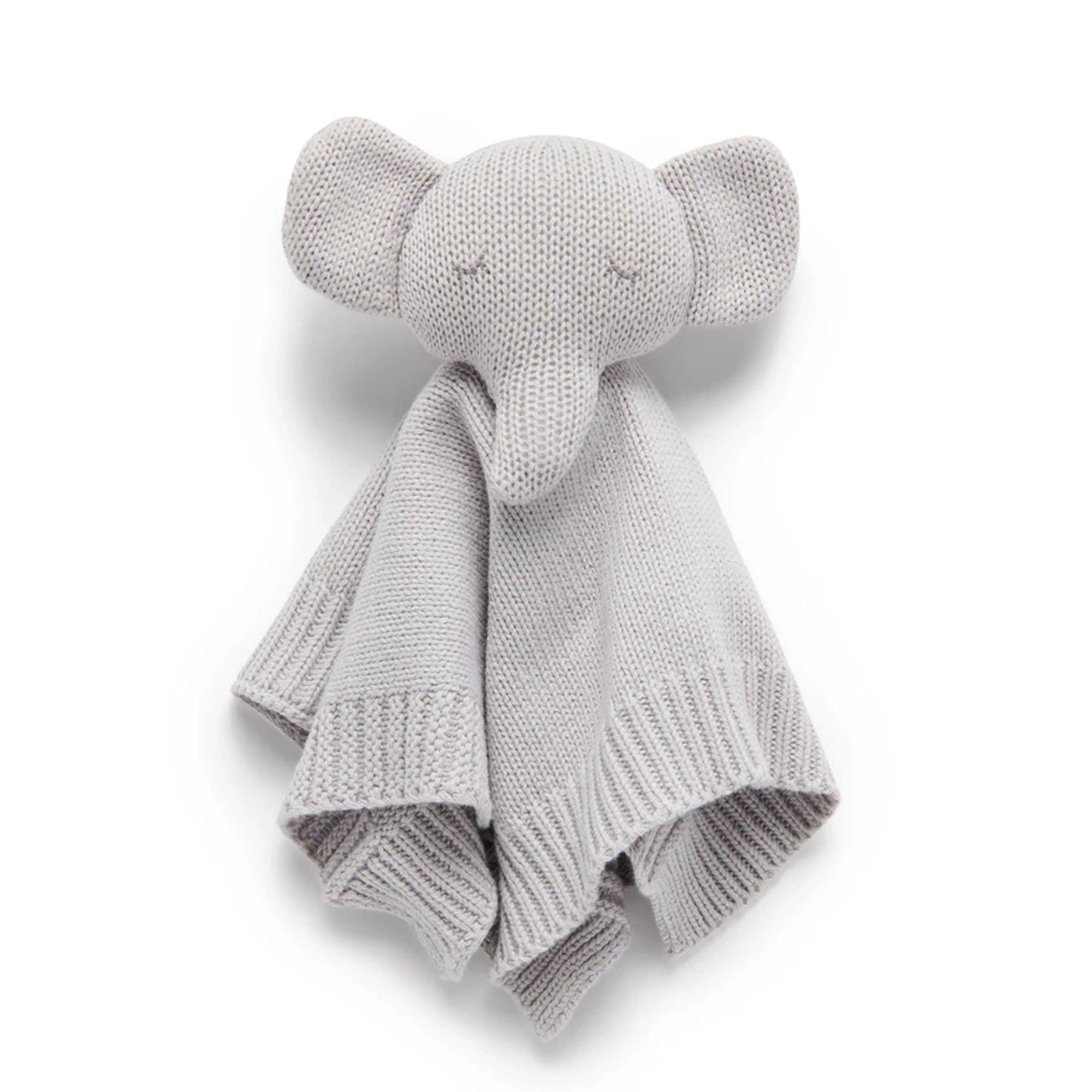 Pure Baby Knitted Elephant Comforter Grey PY1012NS