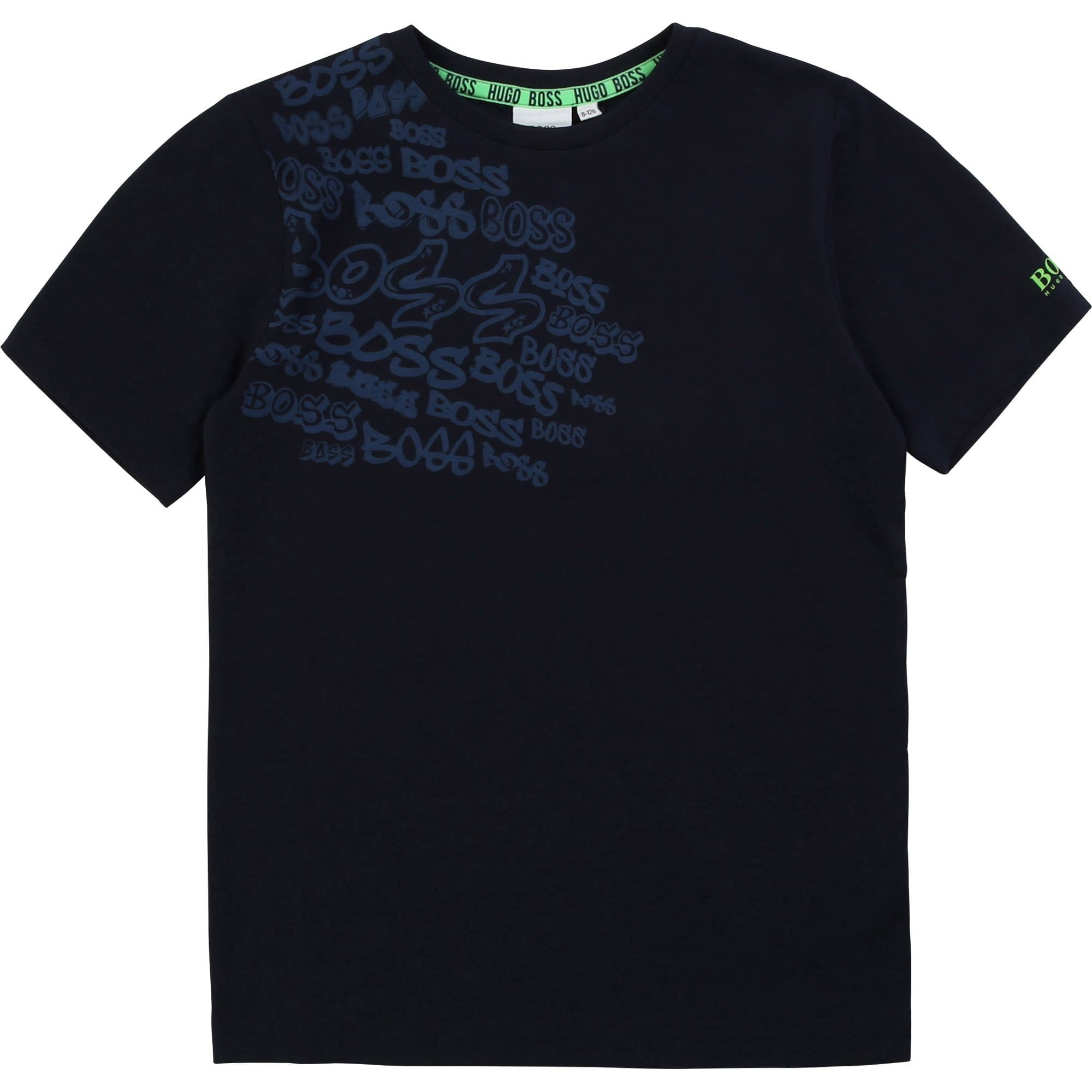 Hugo Boss Short Sleeve Branded T-Shirt Navy J25E77/849