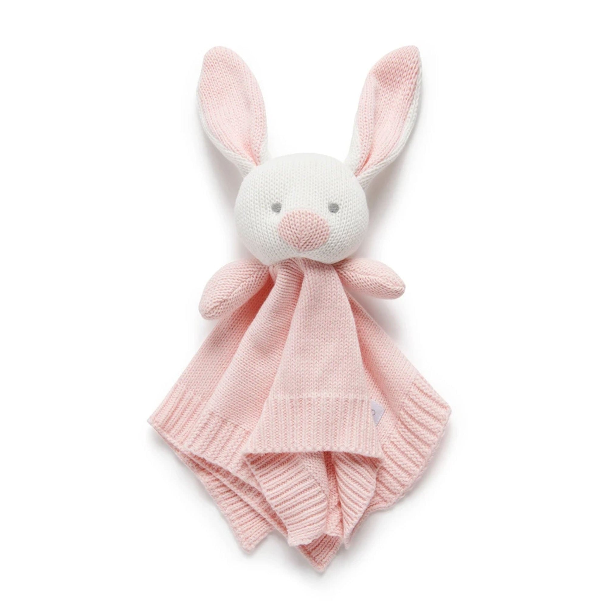 Pure Baby Knitted Rabbit Comforter Pink PY1014NS