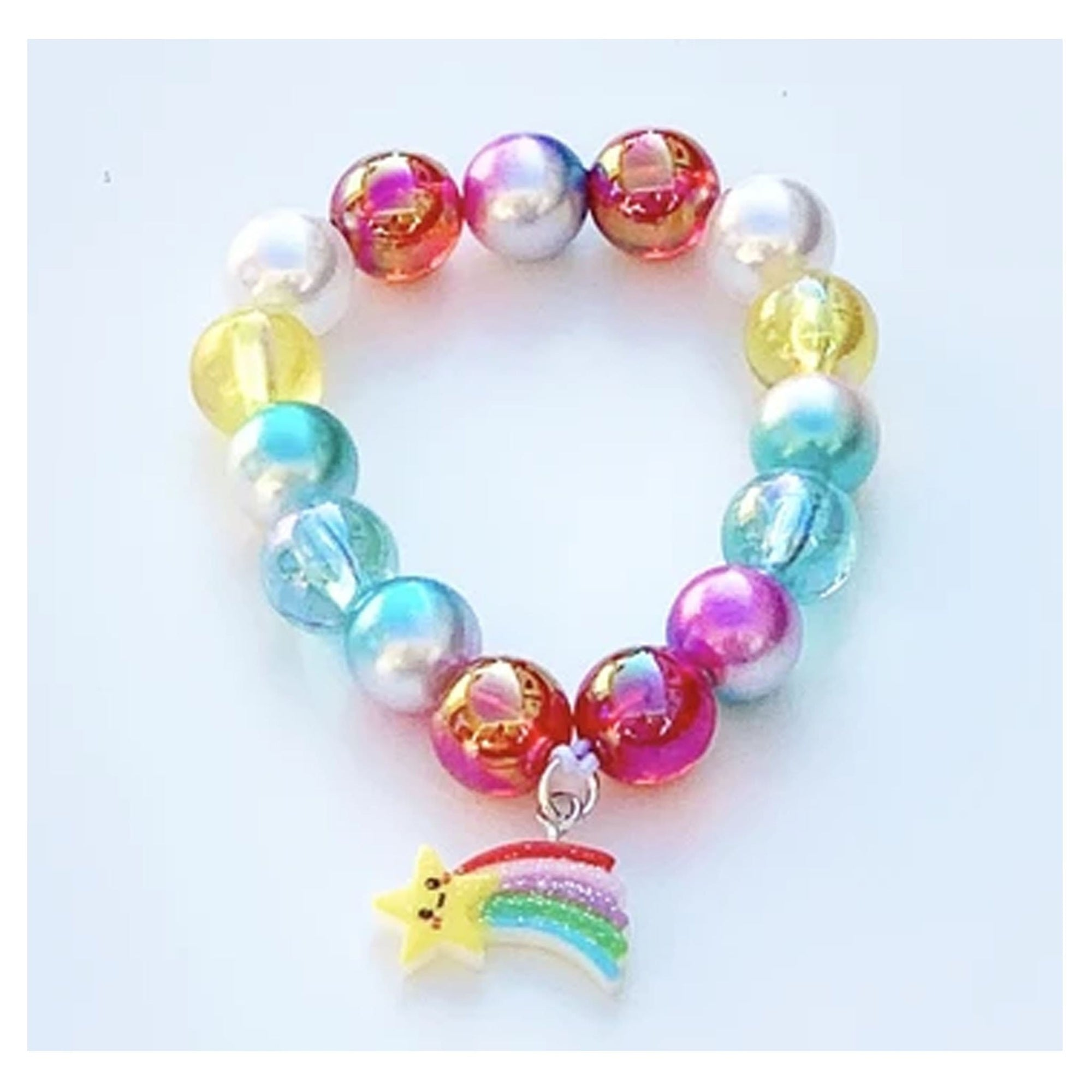 Sweet as Sugar Jewellery Beaded Rainbow Bracelet