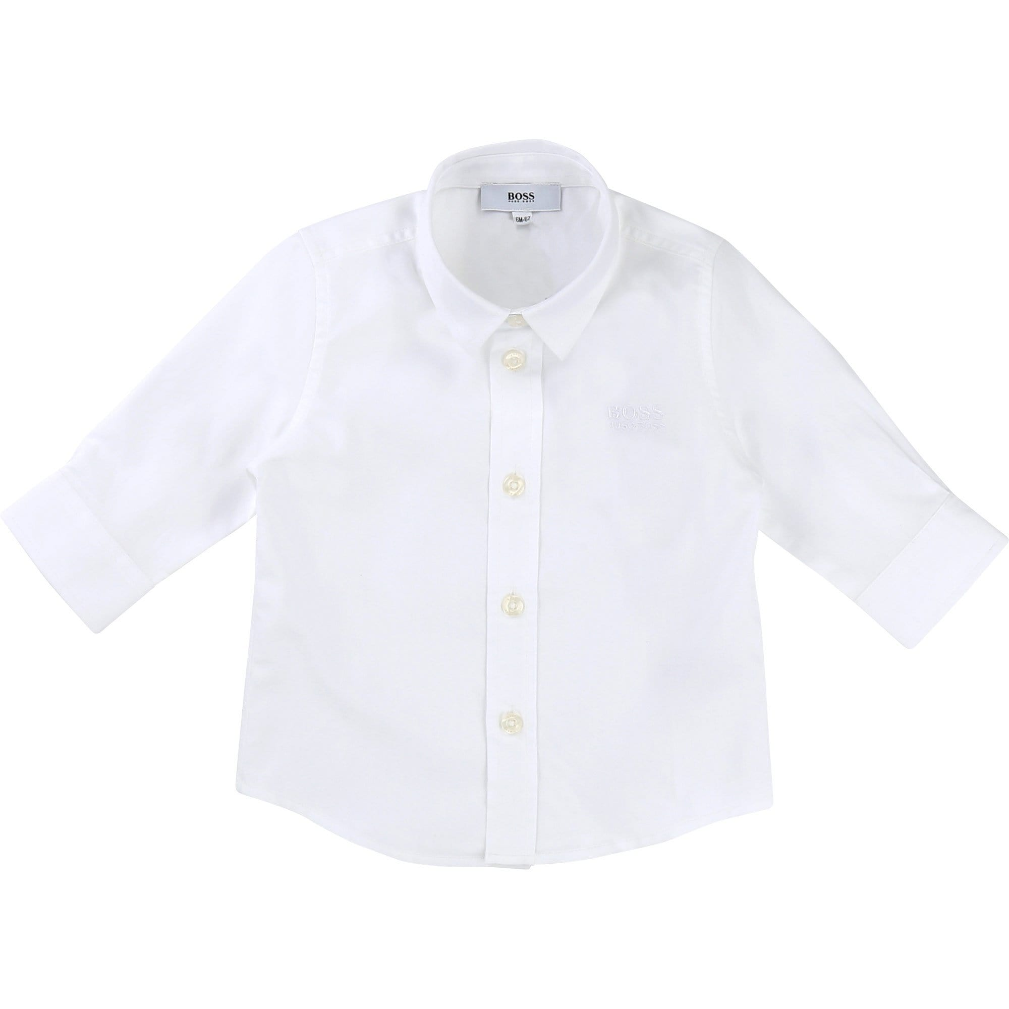 Hugo Boss Long Sleeve White Shirt (4703686426755)