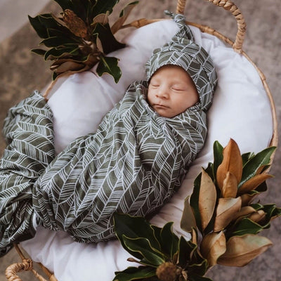 Snuggle Hunny Tribal Baby Wrap Set with Beanie (4693192081539)