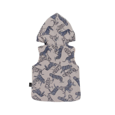 Kapow Kids Tonal Tigers Hooded Zip Vest