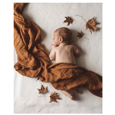 Snuggle Hunny Kids Organic Cotton Muslin Wrap Bronze