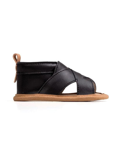 Pretty Brave Cross-over Sandal Castle Black PBCOCB (4651222597763)