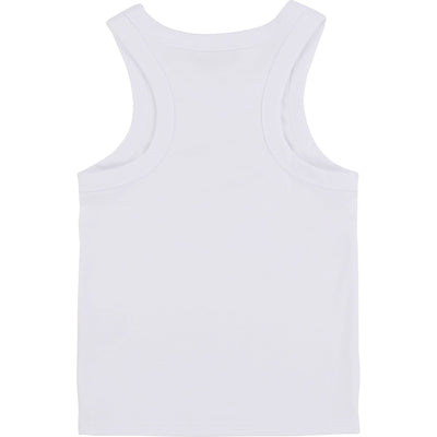 DKNY Girls Logo Tank Top - White D35Q48/10B