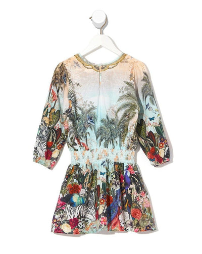 Camilla Gully Of Jupiter Kids 3/4 Flare Sleeve Playsuit (4645798412419)