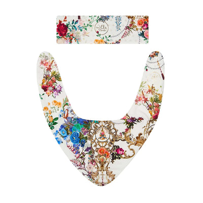 Camilla By The Meadow Babies Headband and Bib Set