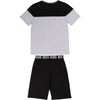 Hugo Boss T-Shirt and Short Set Grey/Black J28072/M10