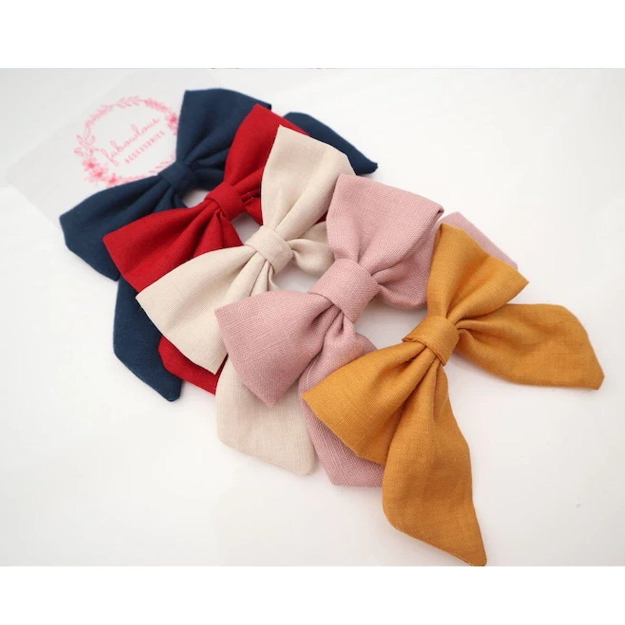 Fabowlous Accessories Linen Sailor Bows