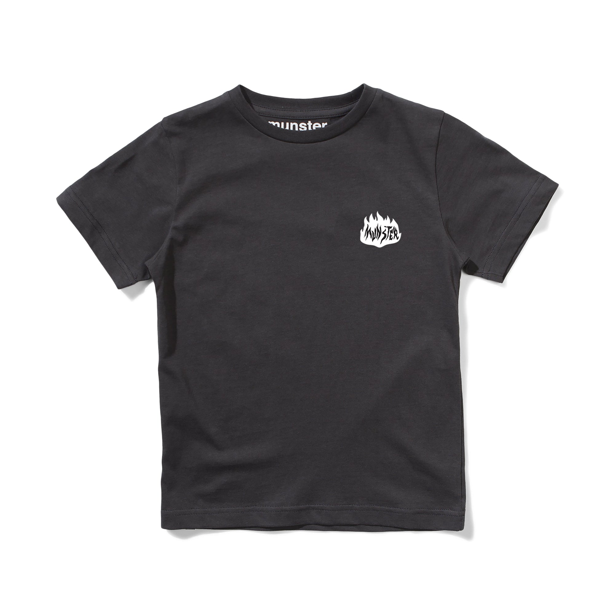Munster Kids On Fire Tee Soft Black