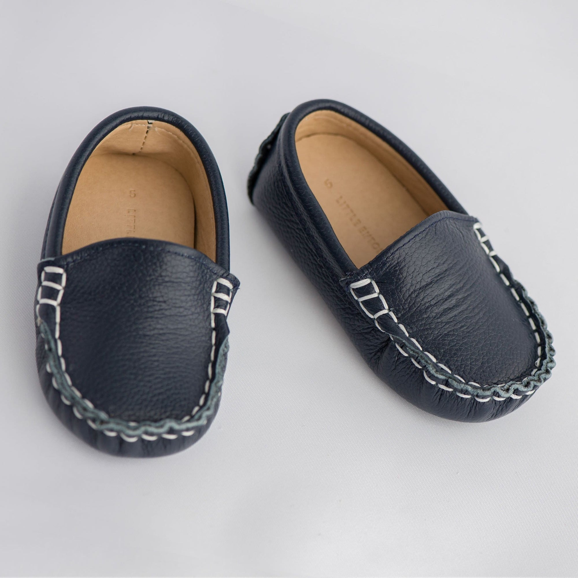 Little Entourage Domenic Leather Loafer Navy