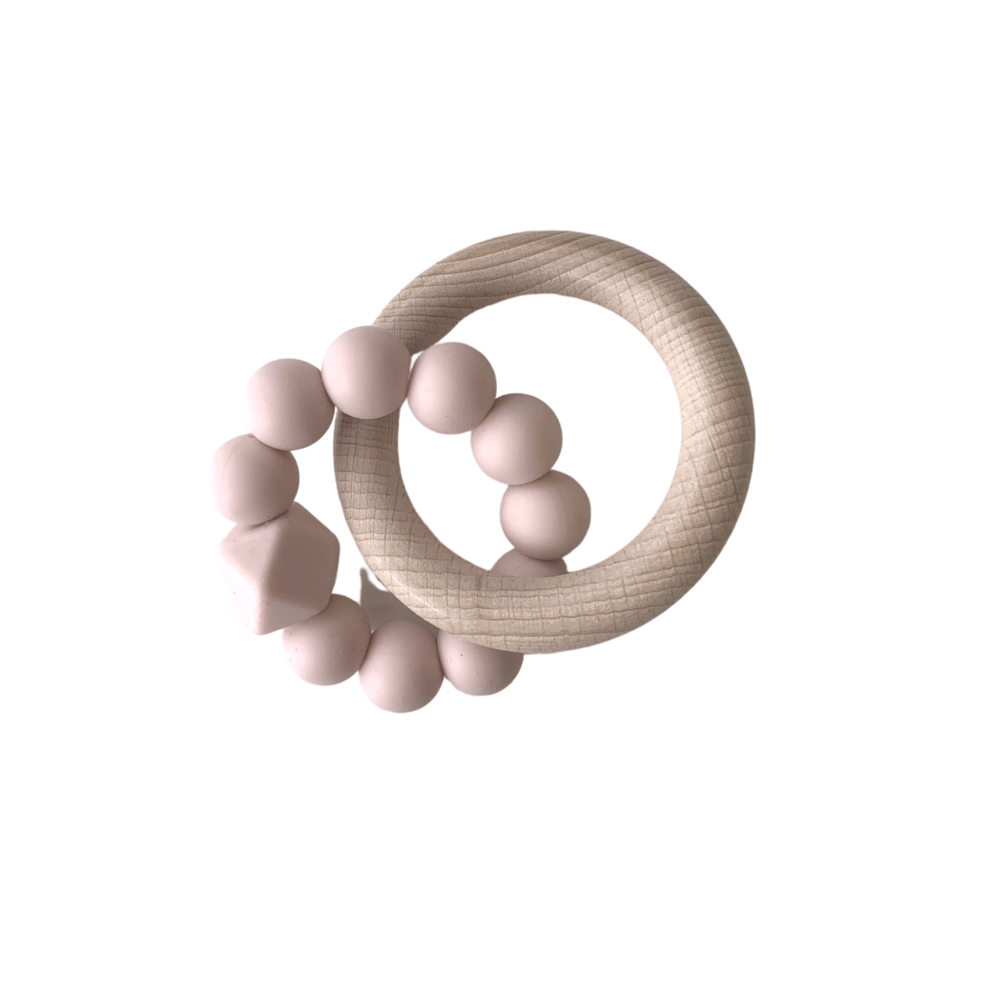 Hubba Bubba Co Rattle Ring - Blush Pink