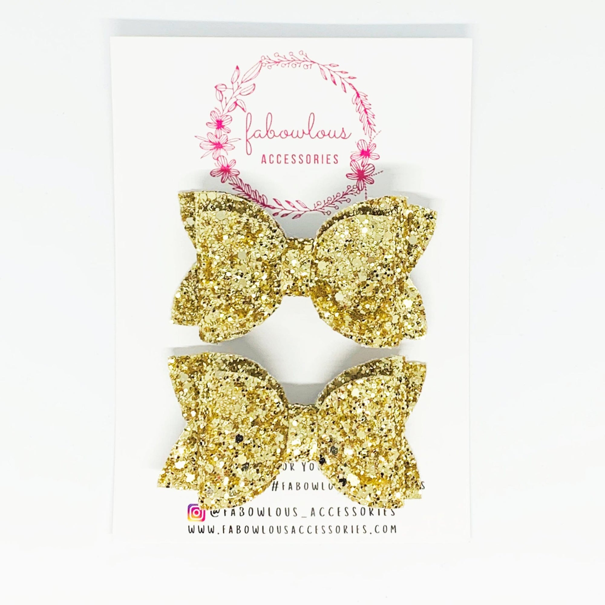 Fabowlous Accessories Glitter Pigtail Set