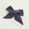 Snuggle Hunny Kids Linen Bow Pre-Tied Headband Wrap - Navy (4692567720067)