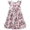 Designer Kidz Pearl Pink Floral S/S Swing Dress