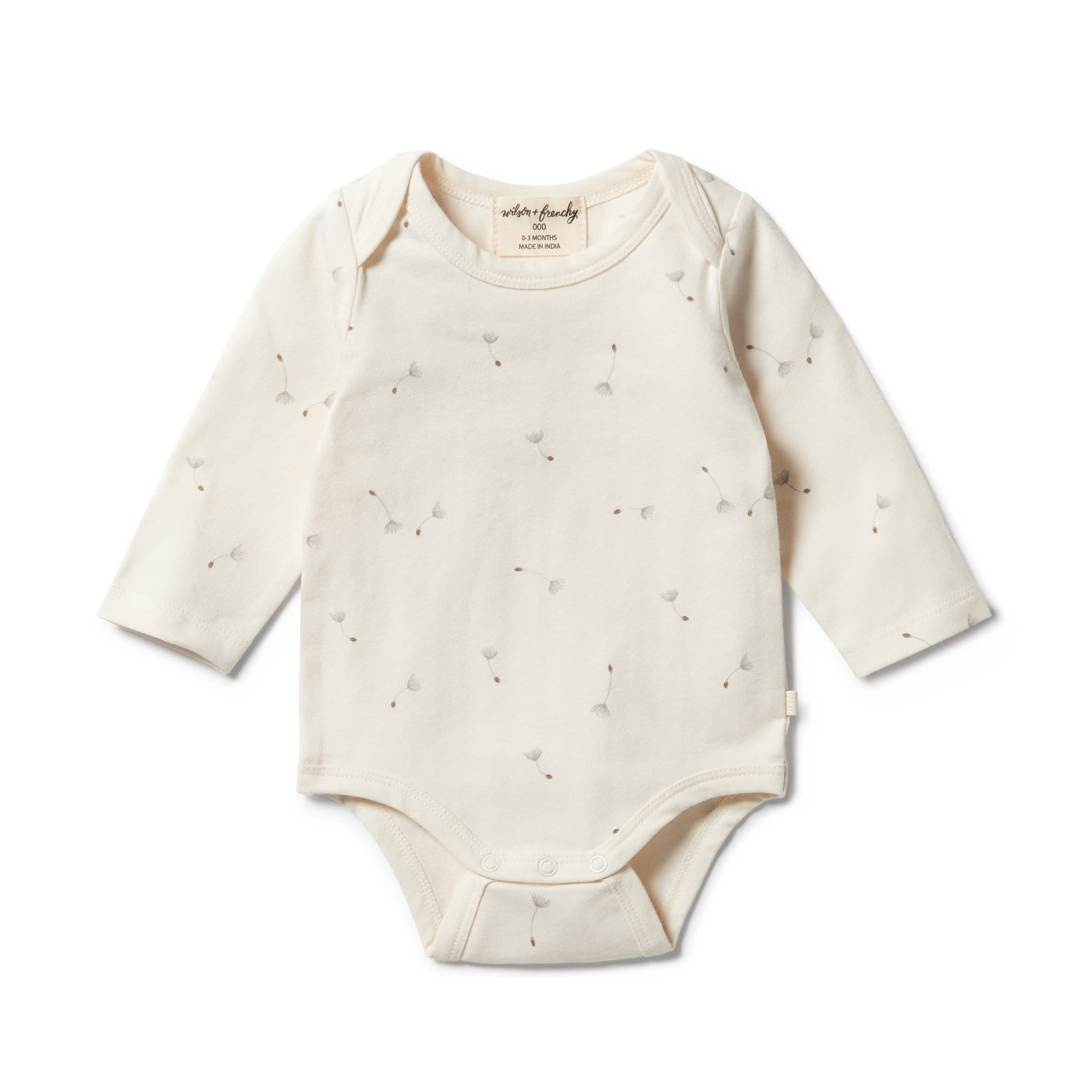 Wilson and Frenchy Organic Envelope Bodysuit - Floating Dandelions