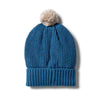 Wilson and Frenchy Knitted Beanie - Denim Fleck