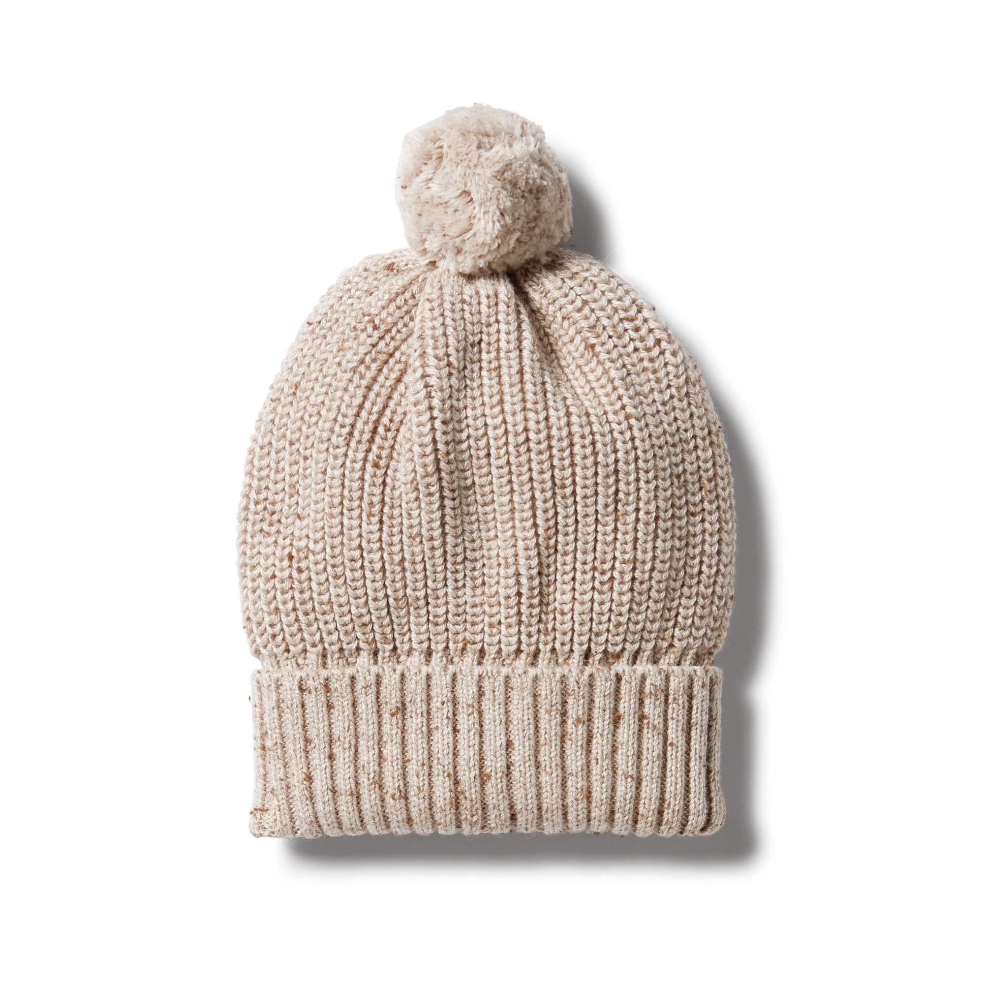 Wilson and Frenchy Knitted Beanie /- Oatmeal Fleck