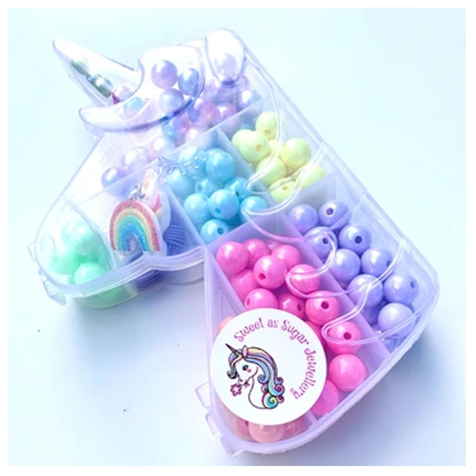 Sweet as Sugar Jellewery Unicorn DIY Bead Kit - Pastel