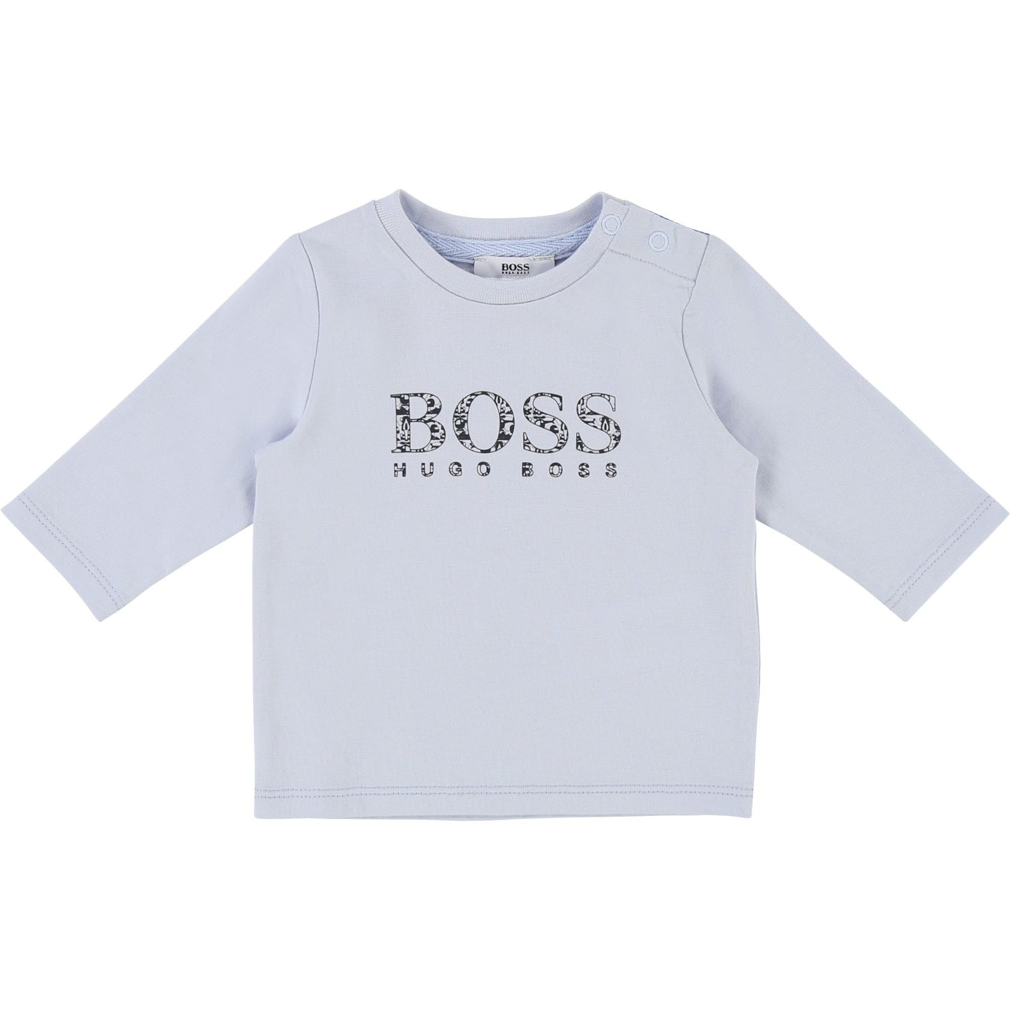 Hugo Boss Baby Long Sleeve T-Shirt Pale Blue J95257/771