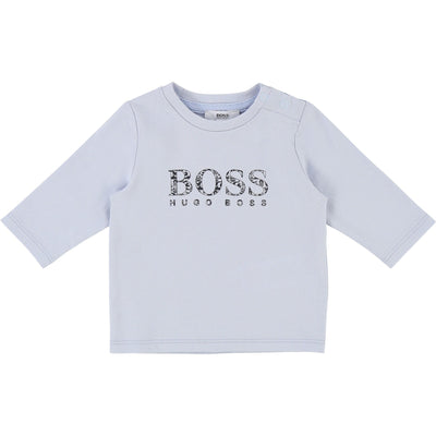 Hugo Boss Baby Long Sleeve T-Shirt Pale Blue (4696305172611)
