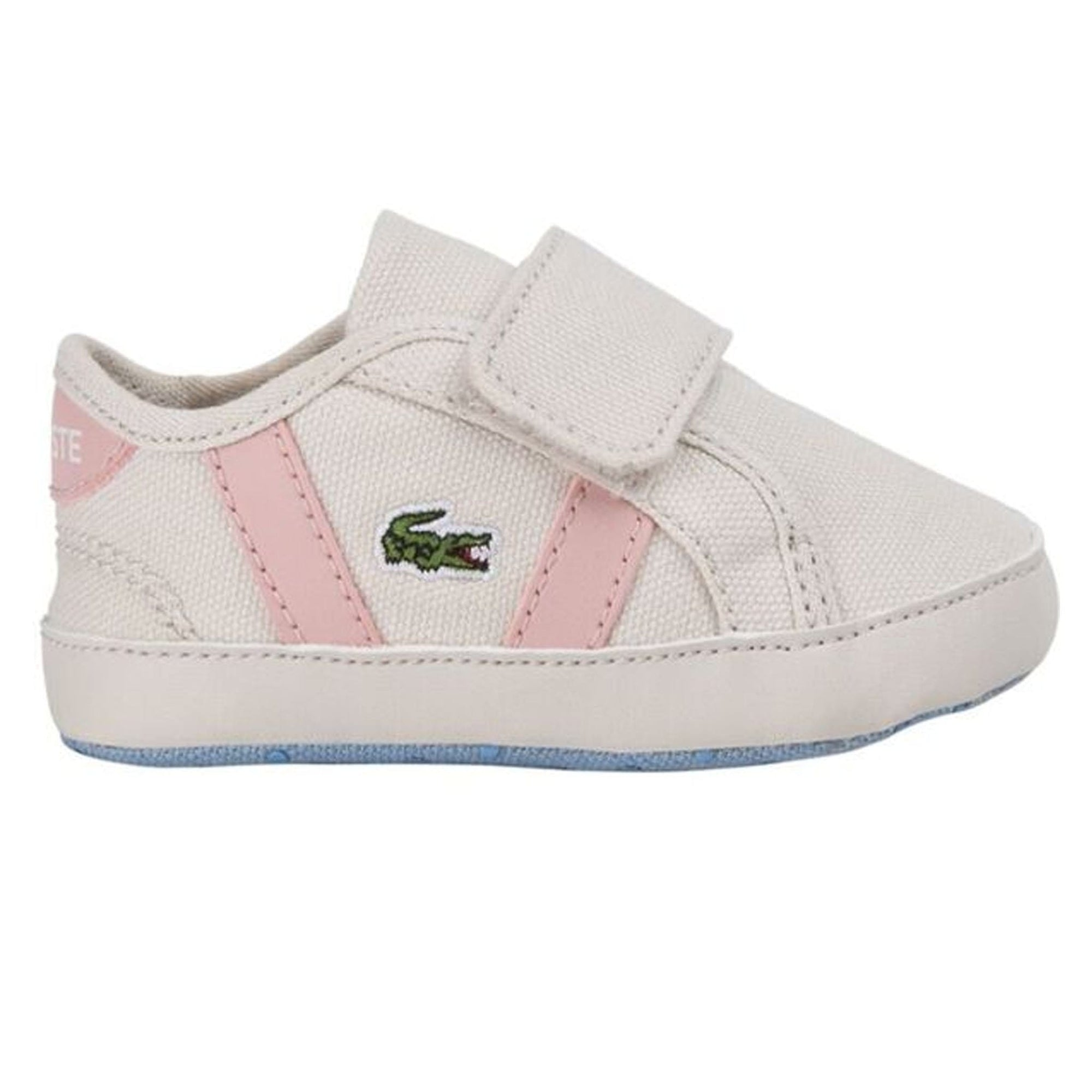 Lacsote Infants' Pink Sideline Crib Canvas Trainers