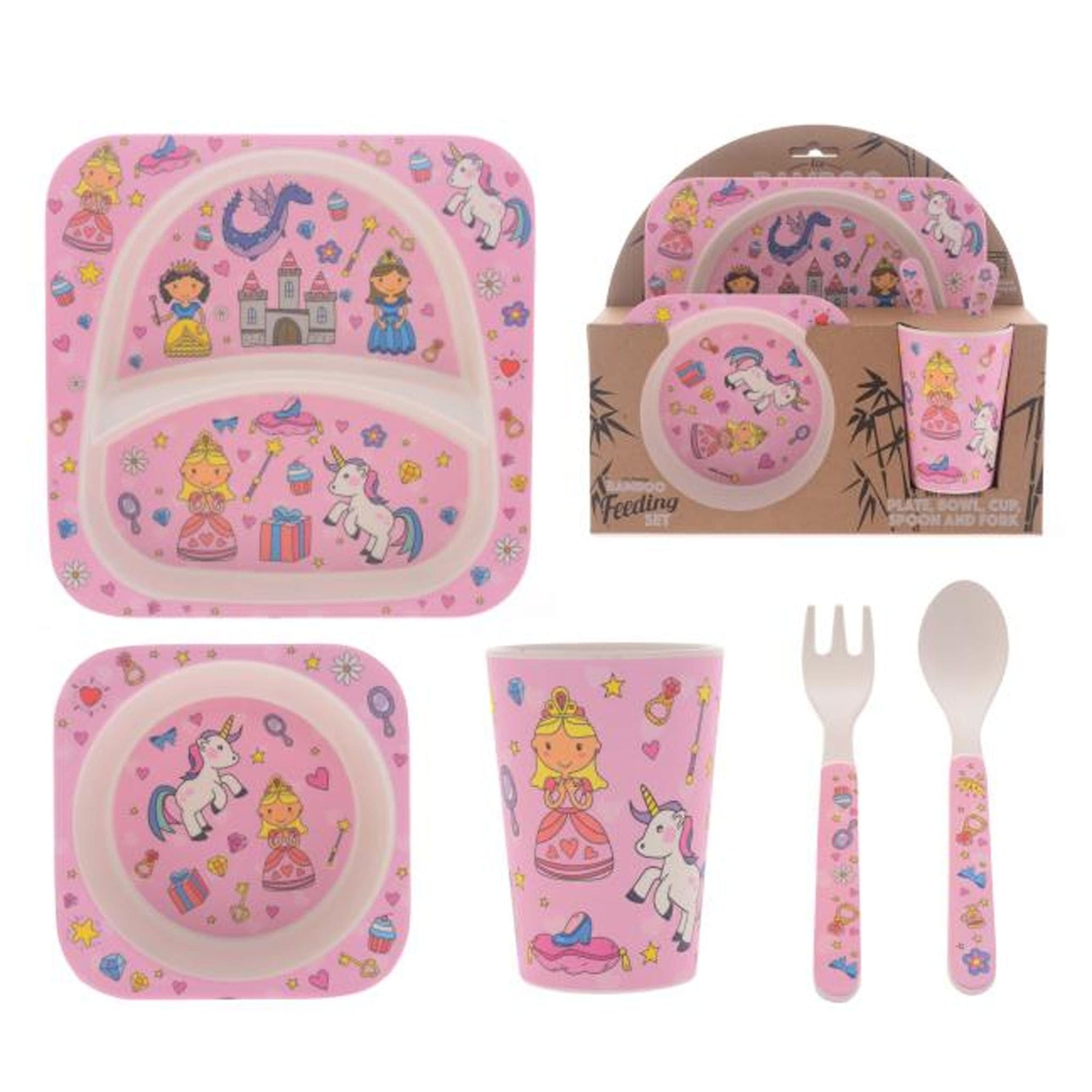 Fairytale 5 Piece Bamboo Dinig Set