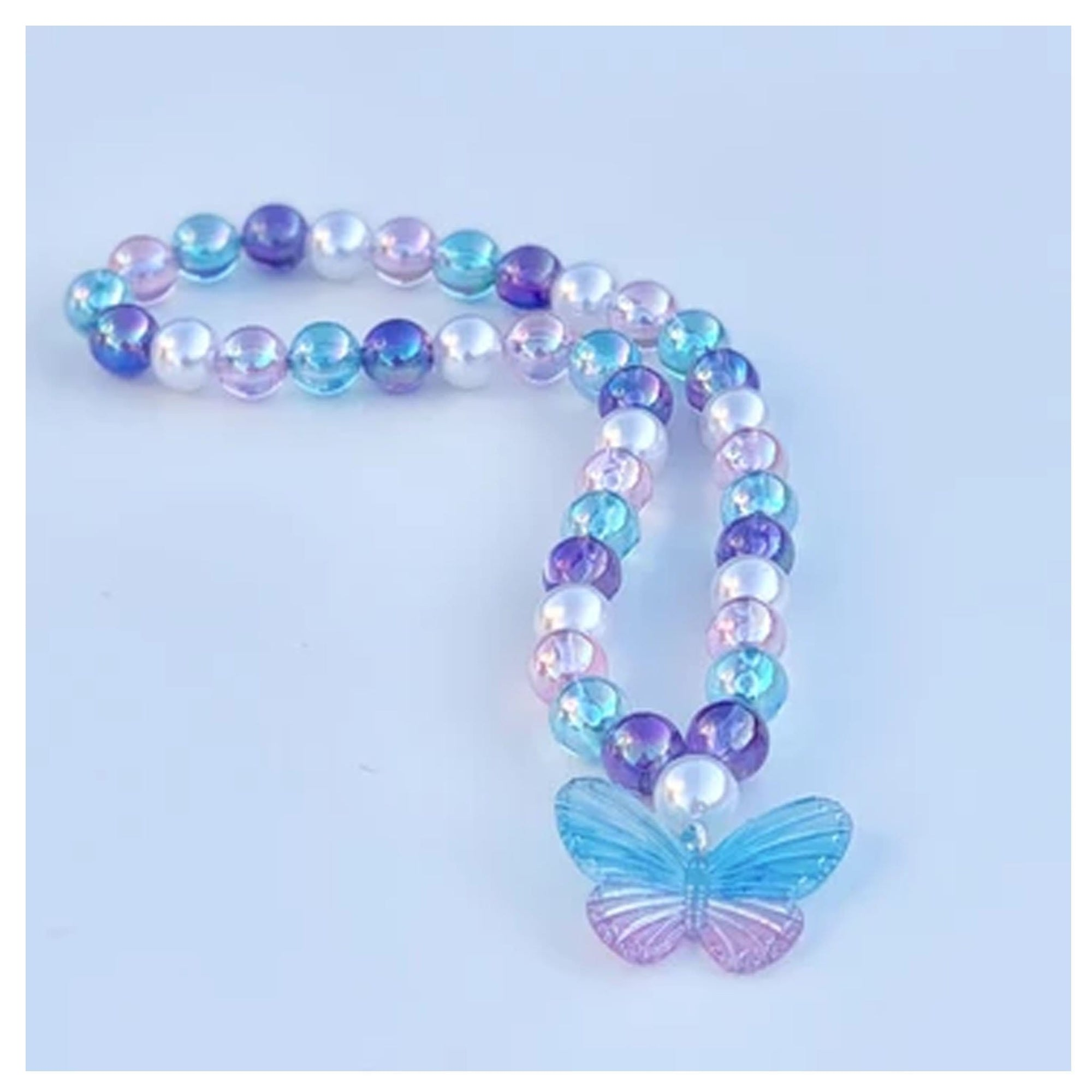 Sweet as Sugar Jellewery Beaded Butterfly Necklace