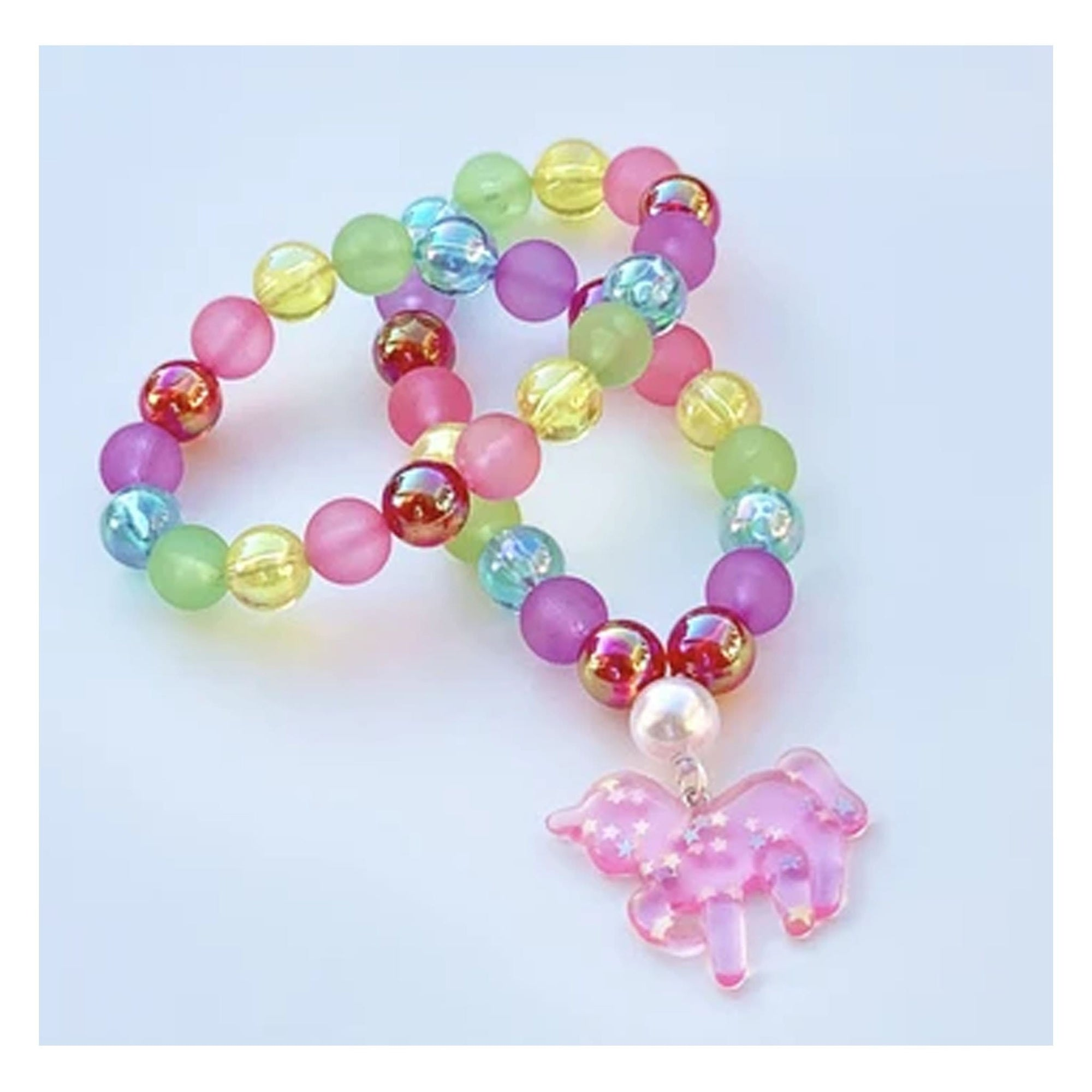 Sweet as Sugar Jellewery Beaded Rainbow Unicorn Necklace