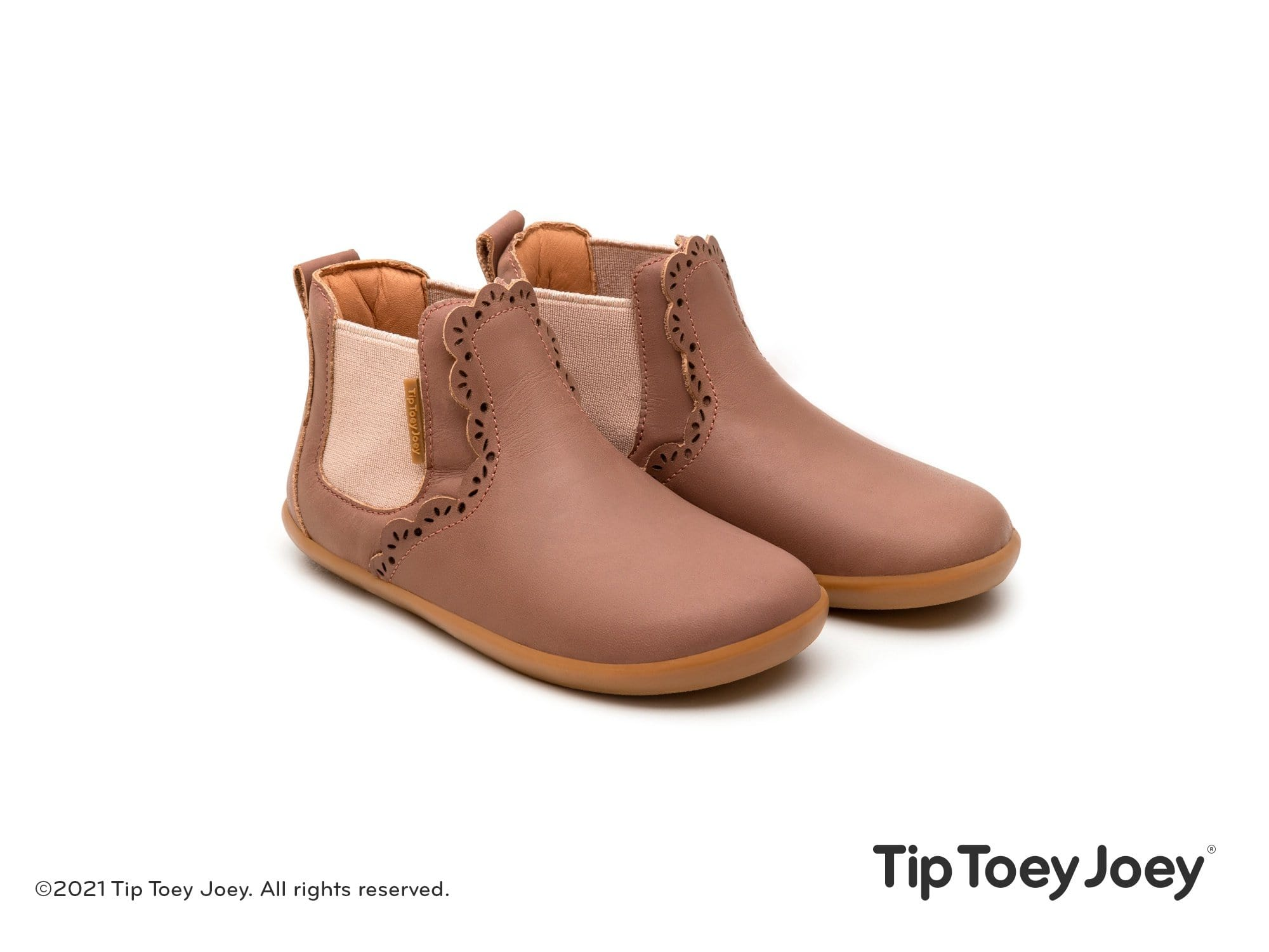 Tip Toey Joey Boots Little Lace - Mongo Rose