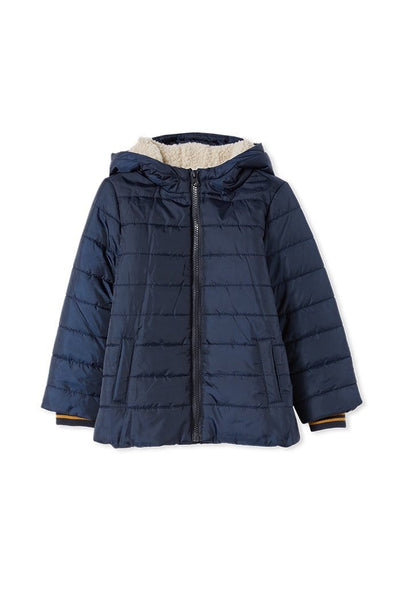 Milky Baby Navy Hooded Puffer Jacket
