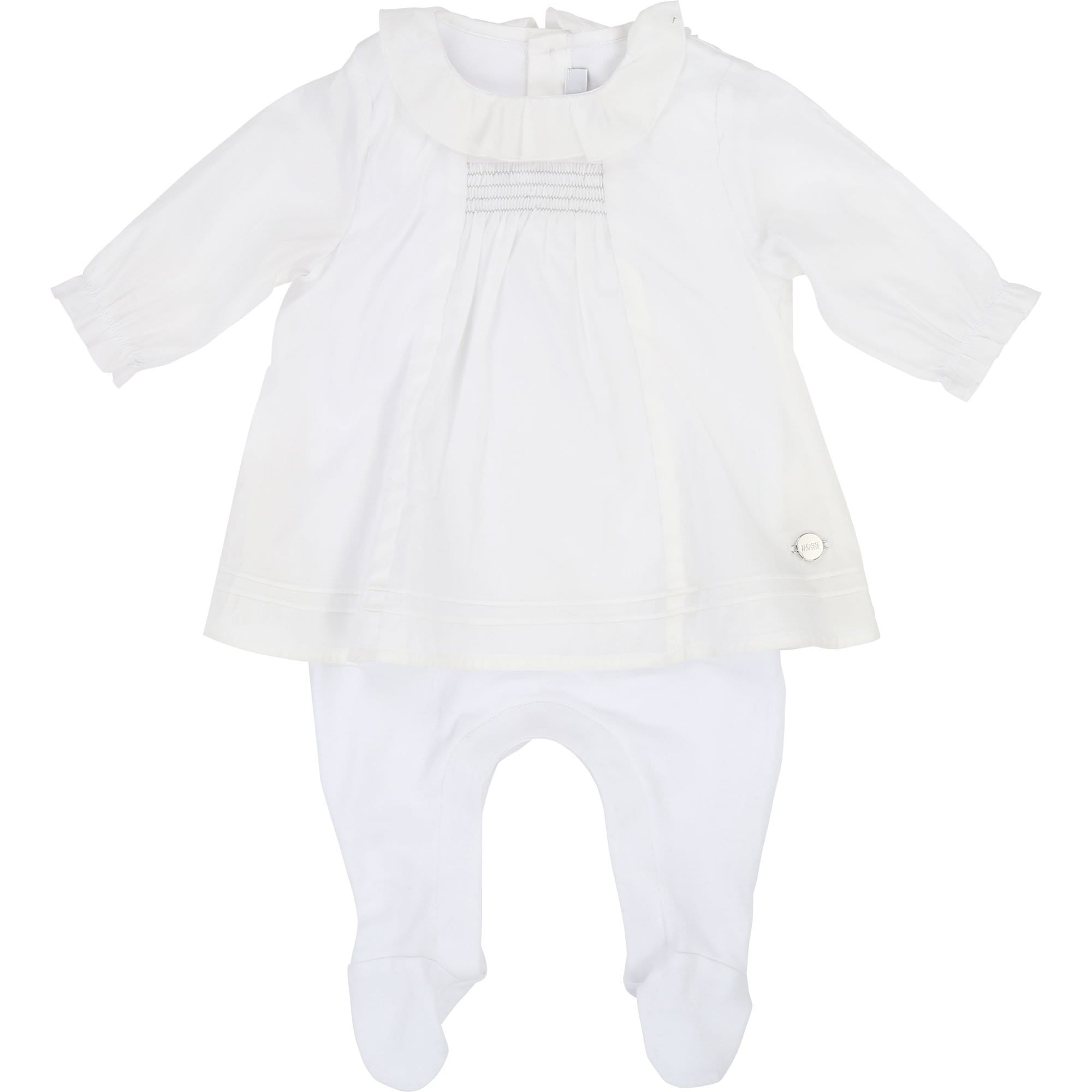 Hugo Boss Baby Girl Romper White (4693844754563)