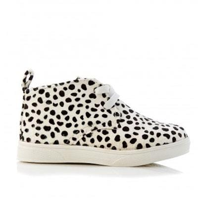 Walnut Sammy Pony Boot White Leopard