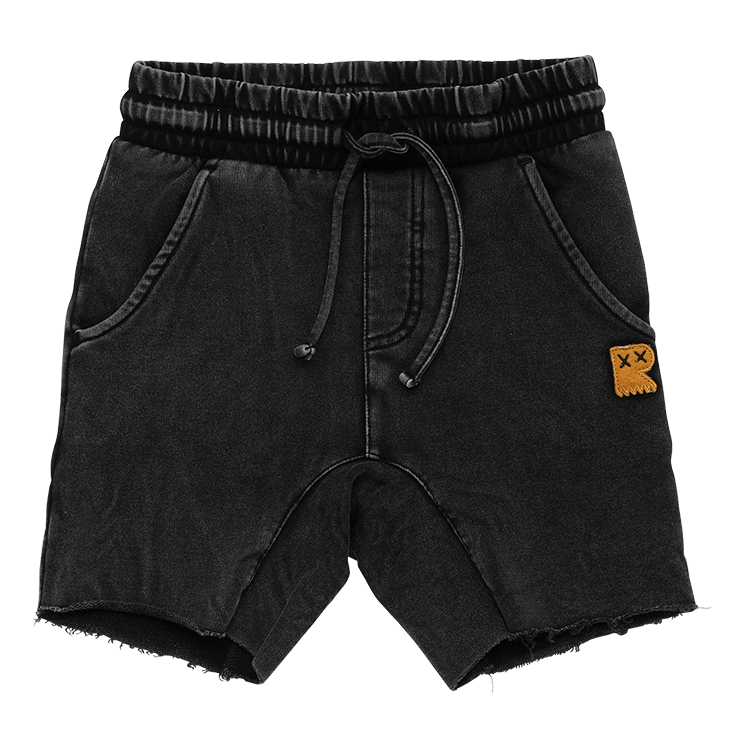 Rock Your Kid Black Wash Smash Shorts