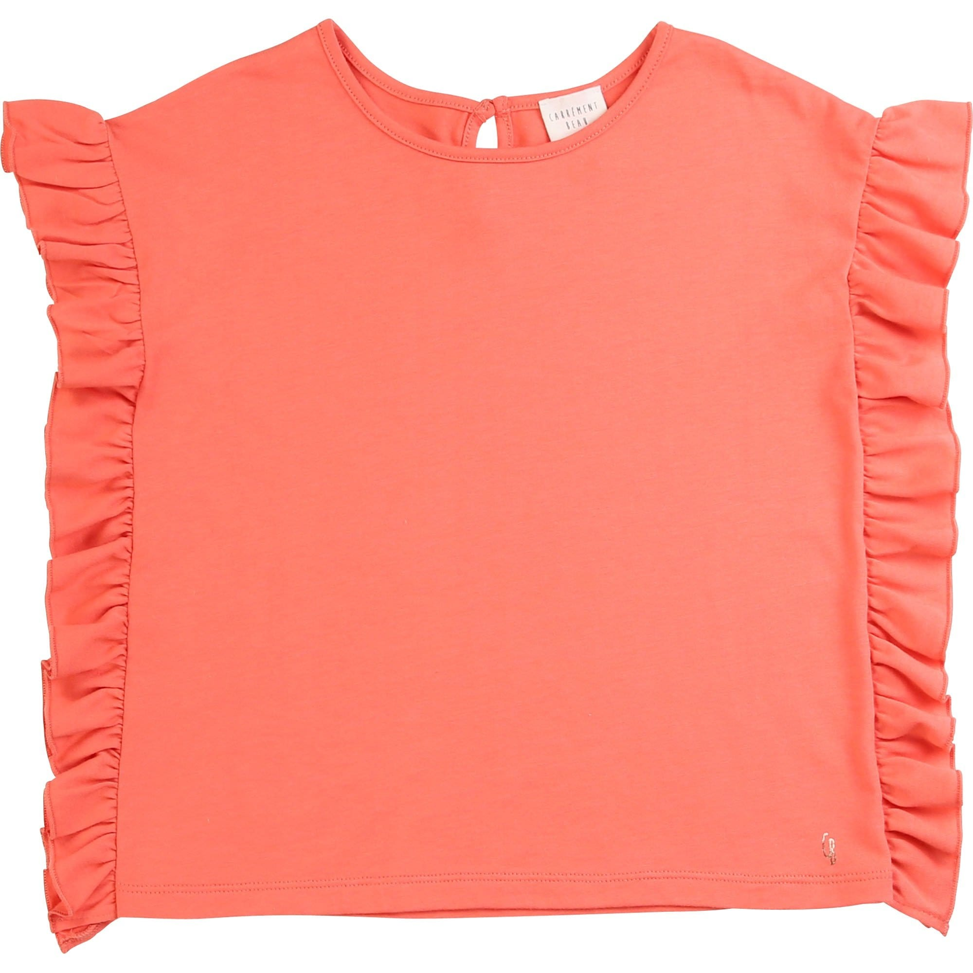 Carrement Beau Frill Short Sleeve T-Shirt Apricot