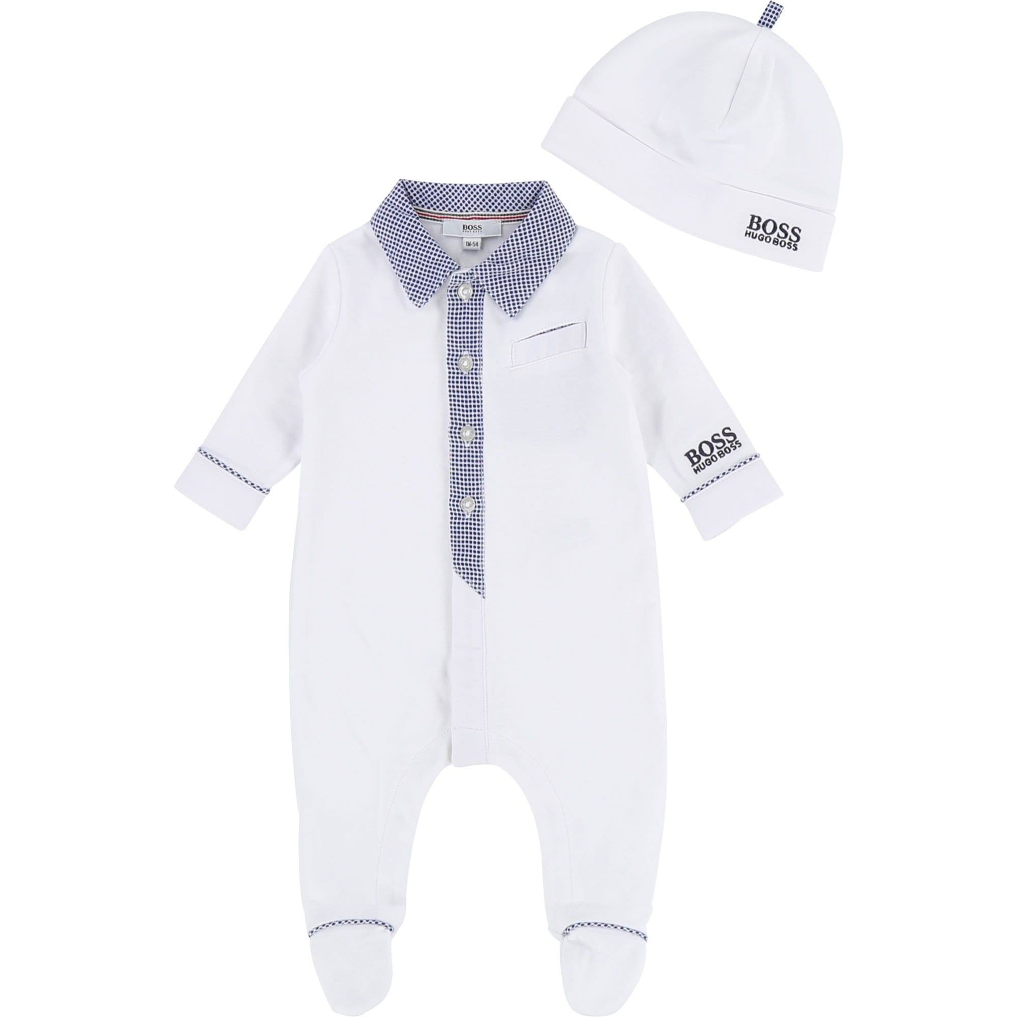 Hugo Boss Onsie Set with Beanie (4702957273219)