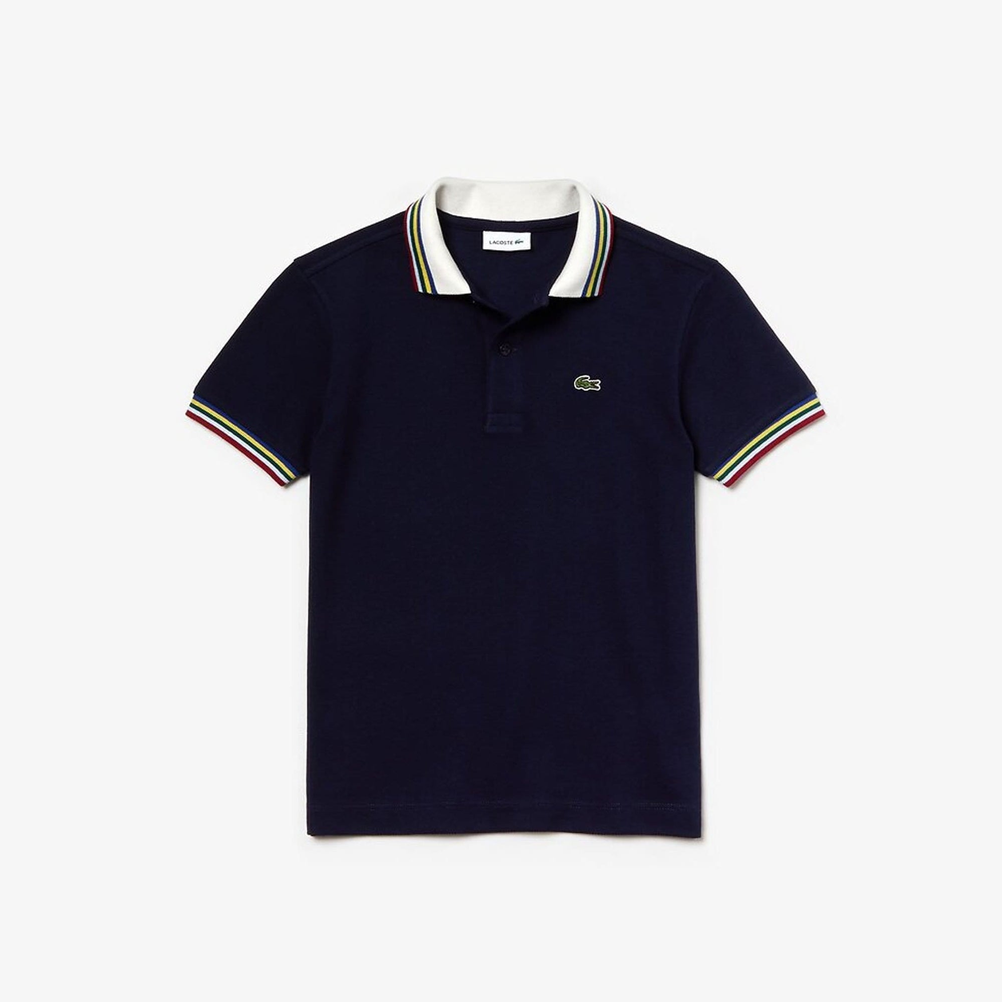 Lacoste Boys Multico Regular Pique Polo Navy