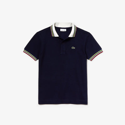 Lacoste Boys Multico Regular Pique Polo Navy (4684565840003)