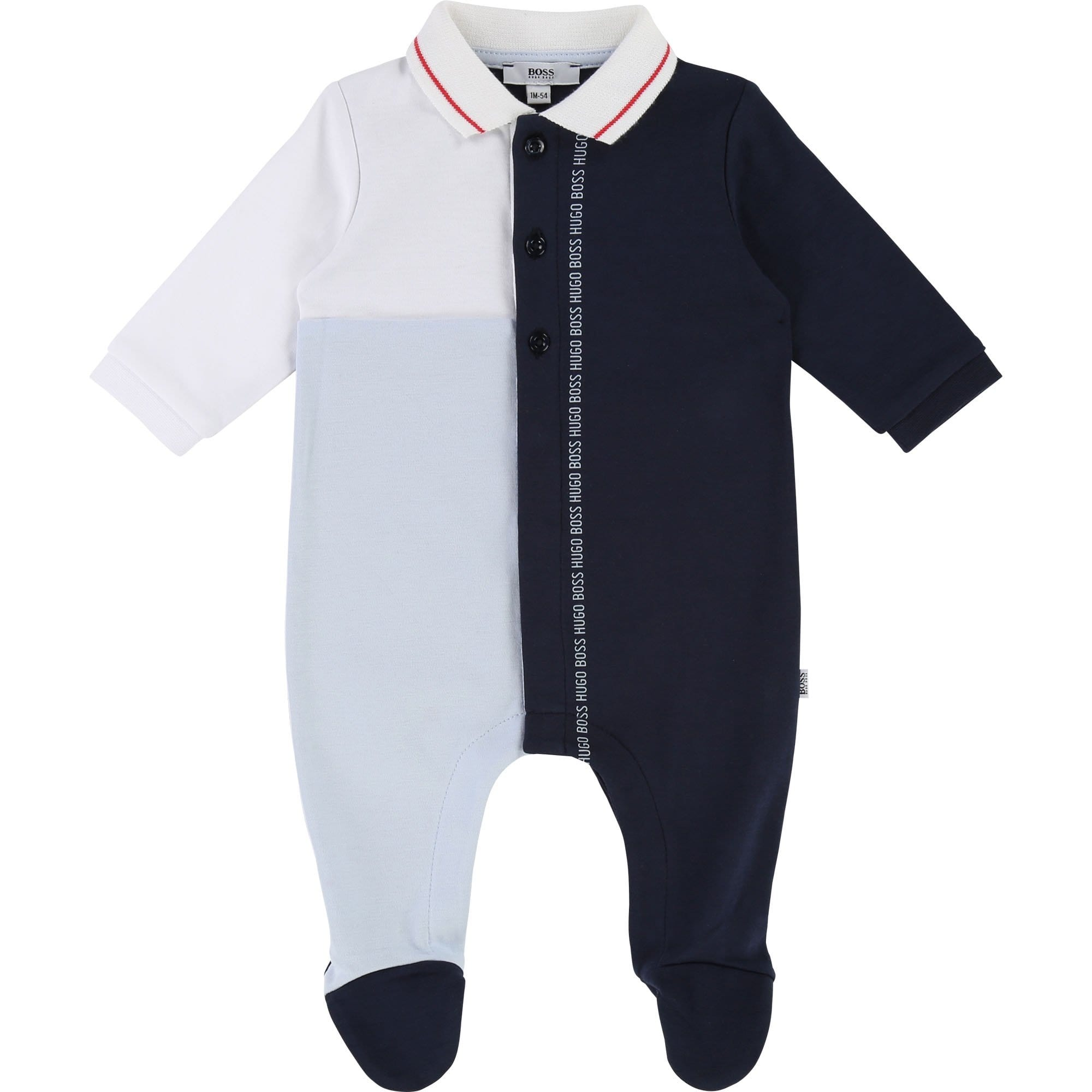 Hugo Boss Baby Onsie Navy/Pale Blue (4696838799491)